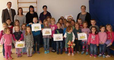 Neu gestaltete Gruppenlogos im Kindergarten Rappelkiste