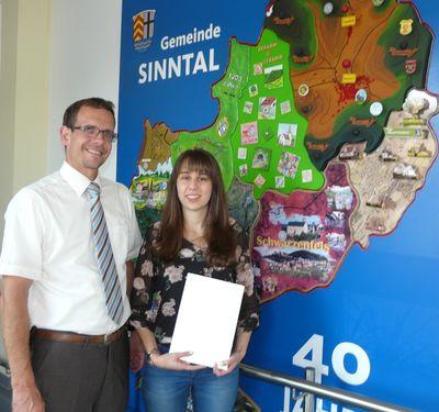 Nach erfolgreicher Ausbildung bei der Gemeinde Sinntal übernommen